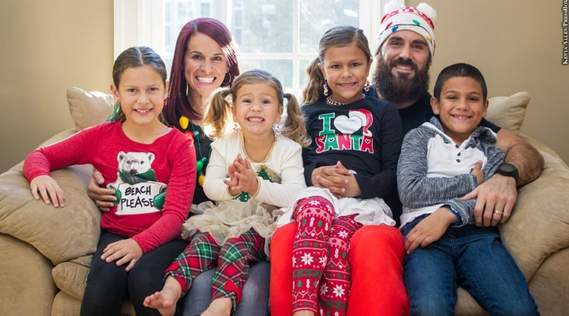 Eric Weddle with his family