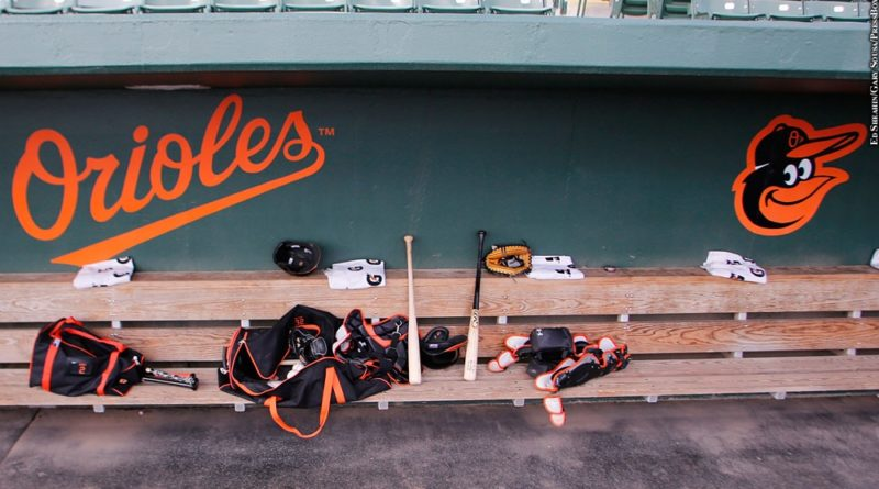 Orioles dugout, spring training
