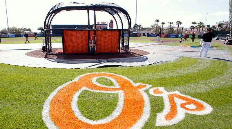 Orioles spring training, batting practice