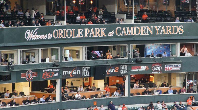 Oriole Park at Camden Yards, press box