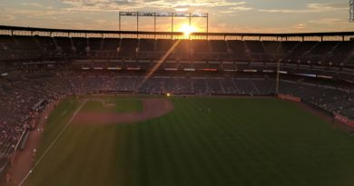 Oriole Park at Camden Yards, sunset