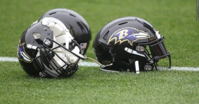 Ravens helmets