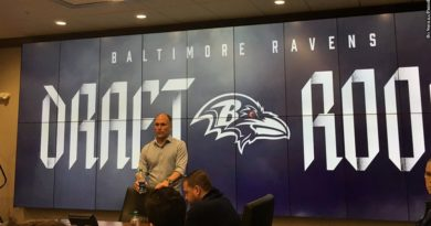 Ravens draft room, Eric DeCosta
