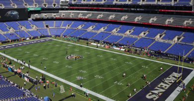 Ravens M&T Bank Stadium field