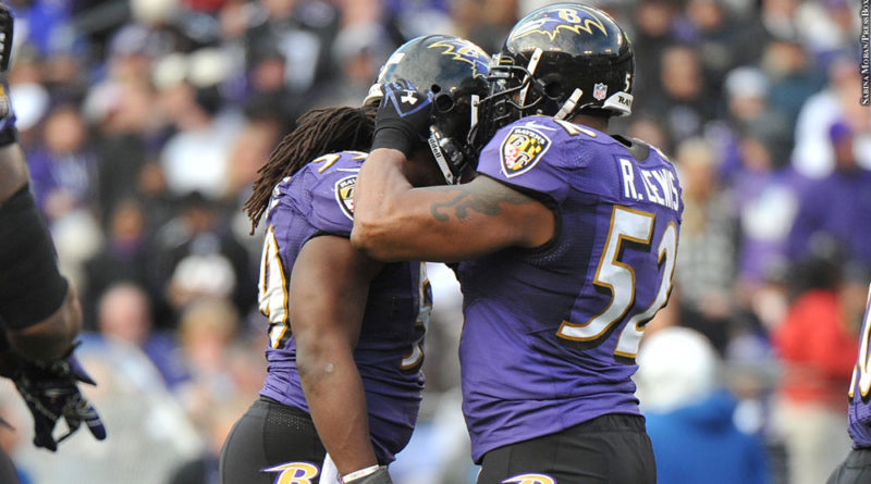 Ray Lewis with Dannell Ellerbe