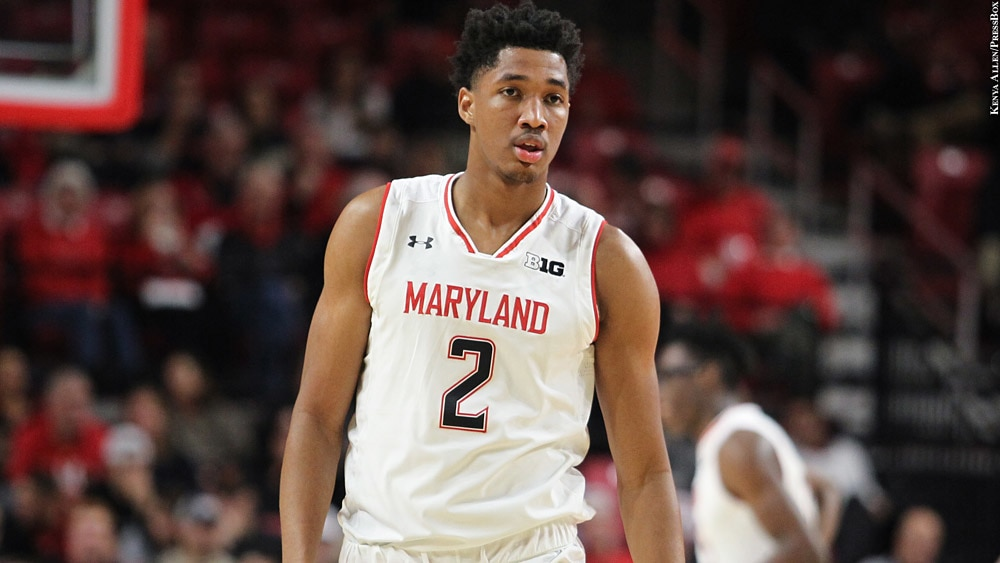 Maryland Basketball S Aaron Wiggins A Bench Player In Name Only Pressboxonline Com