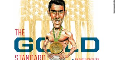 Michael Phelps illustration