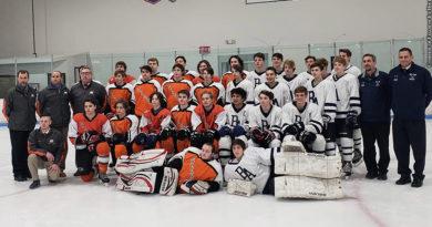 Fallston and Bel Air hockey teams