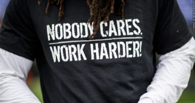 Ravens t-shirt: Nobody Cares. Work Harder!