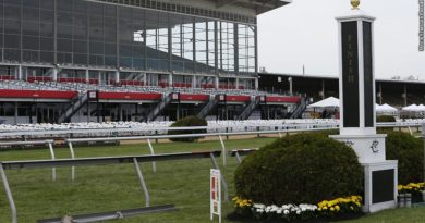Preakness finish line