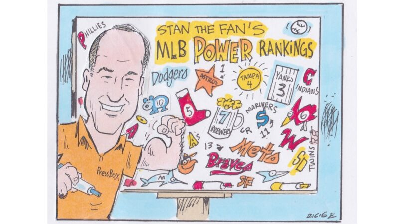 Stan The Fan Charles' MLB power rankings illustration