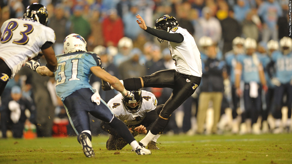 Ravens 2008 playoffs vs. Titans, Matt Stover