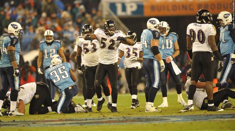 Ravens 2008 playoffs vs. Titans, Ray Lewis