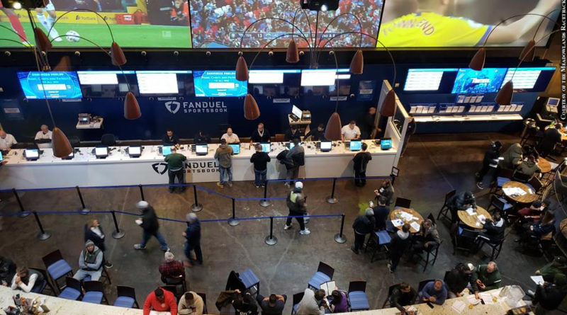 The sports book at the Meadowlands Racetrack