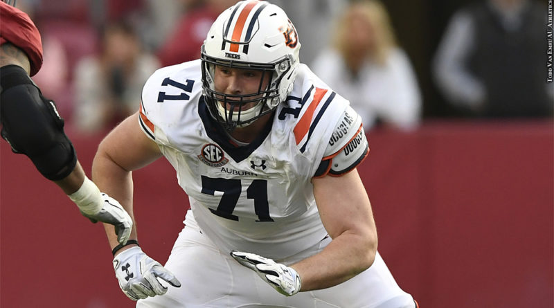 NFL Draft 2020: Jack Driscoll (Photo Credit: Todd Van Emst/AU Athletics)