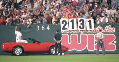 James, Jeff, Jon and Jackie Guidra holding 2,131 sign
