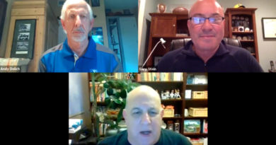 Andy Dolich on Zoom with Stan Charles, Gary Stein