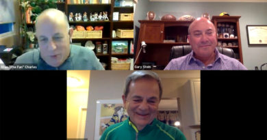 Kevin Byrne on Zoom with Stan Charles, Gary Stein