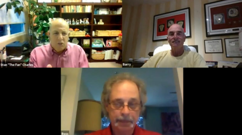 """Barry Weinberg with Stan """"The Fan"""" Charles and Ross Grimsley"""