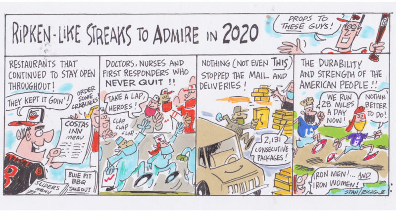 Ricig cartoon: Ripken-Like Streaks To Admire