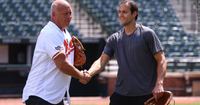Orioles 2020: Cal Ripken Jr., Ryan Ripken (first pitch)