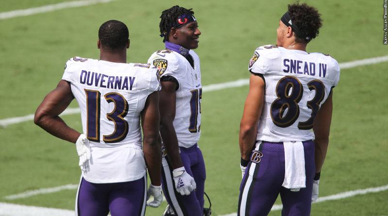 Devin Duvernay, Marquise Brown, Willie Snead