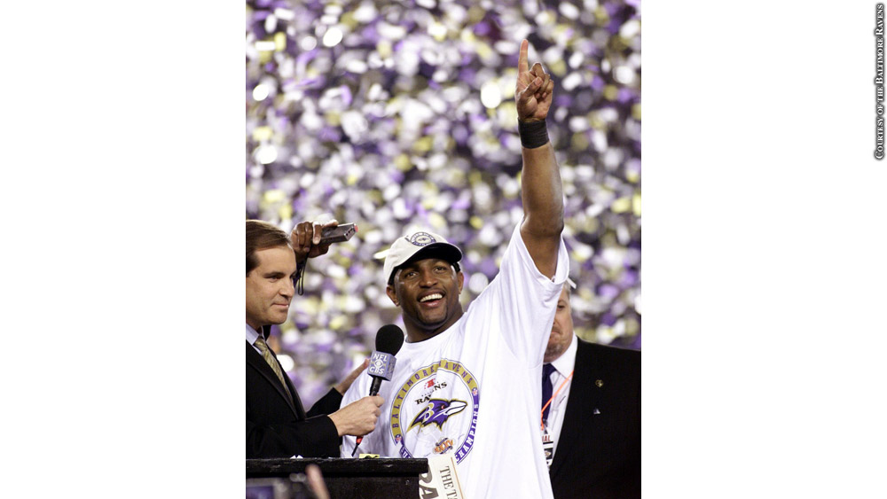Ray Lewis at Super Bowl