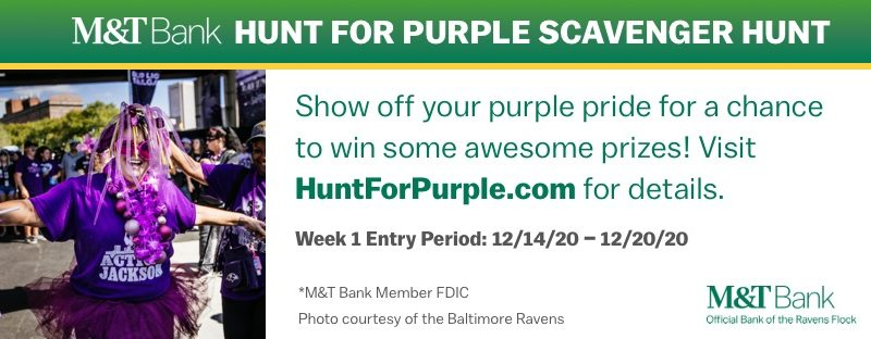 M&T Bank Hunt for Purple Week 1