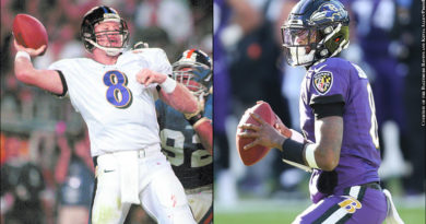 Trent Dilfer and Lamar Jackson