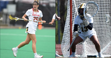 Maryland Lizzie Colson and UMBC Lexi Roberts