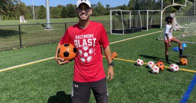 Jonatas Melo at a Baltimore Blast summer camp