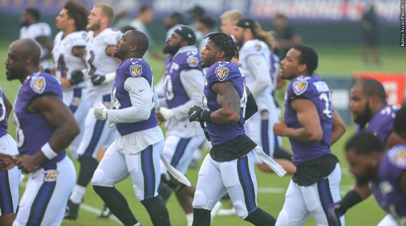 Ravens practice